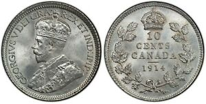 Click now to see the BUY IT NOW Price! WEEDA CANADA 1914 SILVER 10C PCGS MS65  AND CHOICE