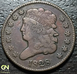 1828 CLASSIC HEAD HALF CENT     MAKE US AN OFFER   W3045 ZXCV