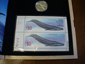 Click now to see the BUY IT NOW Price! 2004   THE BLUE WHALE   10$   LIMITED EDITION STAMP AND COIN SET