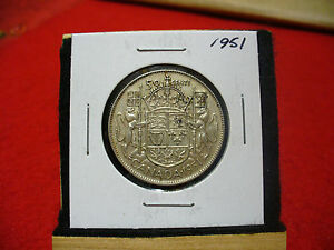Click now to see the BUY IT NOW Price! 1951  CANADA  SILVER  HALF  DOLLAR  50 CENT PIECE   51   GOOD  GRADE