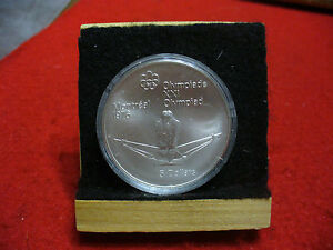 Click now to see the BUY IT NOW Price! 1976 MONTREAL OLYMPICS SILVER 5$ COIN CANADA   ROWING   B.U.