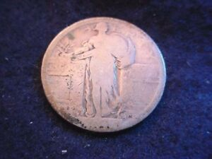 1917 S TYPE I STANDING LIBERTY QUARTER NICE COIN    4