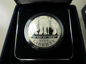 2010 AMERICAN VETERANS DISABLED COMMEMORATIVE SILVER DOLLAR  11609 PROOF
