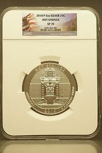 Click now to see the BUY IT NOW Price! 2010 P 5OZ SILVER 25C AMERICA THE BEAUTIFUL  HOT SPRINGS NP NGC SP70 PROOF COIN