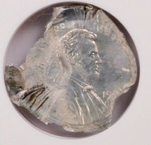 Click now to see the BUY IT NOW Price! NGC 1C LINCOLN CENT DOUBLE STRUCK ON ALUMINUM FEEDER FINGER FRAGMENT MS 63