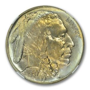 Click now to see the BUY IT NOW Price! 1937 S BUFFALO NICKEL TYPE 2 5C NGC MS68  PLUS TONER POP 1