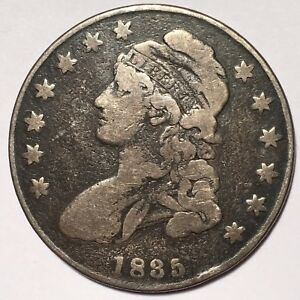 1835 CAPPED BUST SILVER HALF DOLLAR    NICE COIN