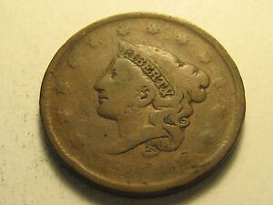 1825 CORONET HEAD LARGE CENT CIRCULATED