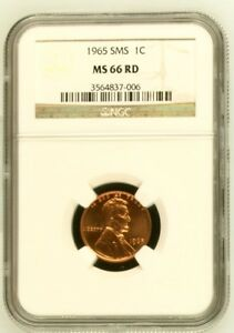 1965 SMS 1C  SPECIAL STRIKE    LINCOLN MEMORIAL PENNY  MS 66 RD NGC GRADED