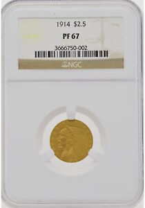 Click now to see the BUY IT NOW Price! 1914 $2.50 INDIAN QUARTER EAGLE NGC PF67
