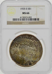 Click now to see the BUY IT NOW Price! 1925 S $1 PEACE DOLLAR NGC MS66