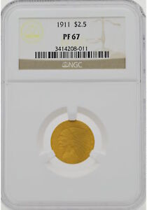 Click now to see the BUY IT NOW Price! 1911 $2.50 INDIAN QUARTER EAGLE NGC PF67