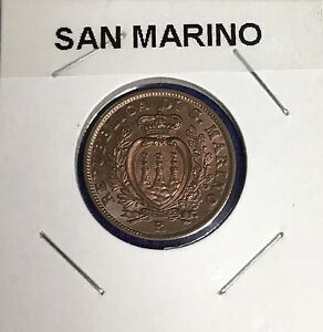 Click now to see the BUY IT NOW Price! 1938 SAN MARINO 10 CENTESIMI KM13   GEM BU RED/BROWN BLAZER