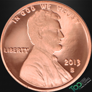 2013 S  1  LINCOLN SHIELD CENT   PR SOLID GEM PROOF RED DEEP CAMEO   517525BBG