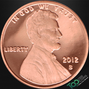 2012 S  1  LINCOLN SHIELD CENT   PR SOLID GEM PROOF RED DEEP CAMEO   511252BBG