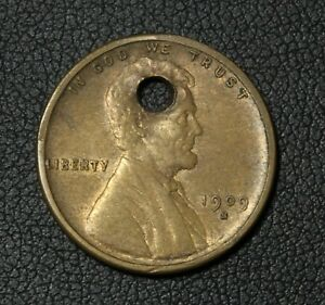 Click now to see the BUY IT NOW Price! 1909 S LINCOLN WHEAT CENT PENNY   HOLED