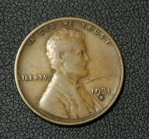 Click now to see the BUY IT NOW Price! 1931 S LINCOLN WHEAT CENT PENNY   OBVERSE SCRATCH
