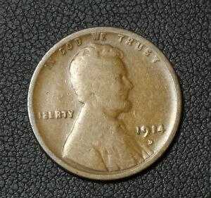 Click now to see the BUY IT NOW Price! 1914 D LINCOLN WHEAT CENT PENNY   REVERSE SPOT