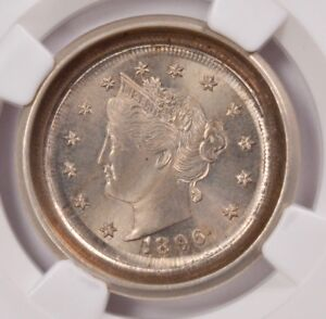 Click now to see the BUY IT NOW Price! NGC 5C 1896 LIBERTY NICKEL DIE CAP & FLIP OVER DOUBLE STRIKE MS 66