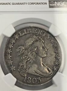 1803 DRAPED BUST HALF DOLLAR NGC VF 30