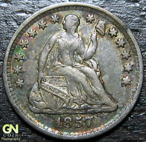 1857 P SEATED HALF DIME      MAKE US AN OFFER   Y8945