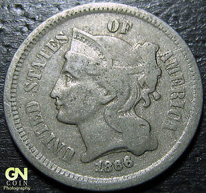1866 3 CENT NICKEL PIECE      MAKE US AN OFFER   Y5306