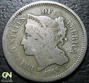 1866 3 CENT NICKEL PIECE      MAKE US AN OFFER   Y5379