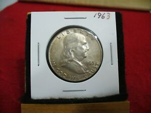 Click now to see the BUY IT NOW Price! 1963   BEN  FRANKLIN  HALF   DOLLAR  50   CENT  PIECE    63   GOOD   GRADE