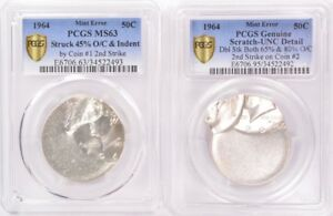 Click now to see the BUY IT NOW Price! PCGS  2 COIN SET  1964 KENNEDY HALF MATED PAIR UNCIRCULATED