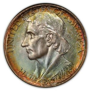 Click now to see the BUY IT NOW Price! BOONE 1936 D 50C SILVER COMMEMORATIVE PCGS MS67  2778 26 COLOR