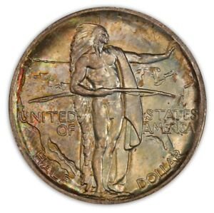 Click now to see the BUY IT NOW Price! OREGON 1936 50C SILVER COMMEMORATIVE PCGS MS68 2778 30 COLOR
