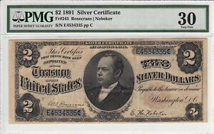 Click now to see the BUY IT NOW Price! 1891 $2 SILVER CERTIFICATE PMG VF30   TWO DOLLAR