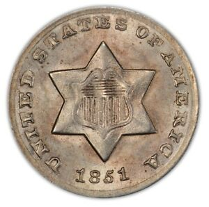 Click now to see the BUY IT NOW Price! 1851 O 3CS THREE CENT SILVER PCGS MS66 PQ