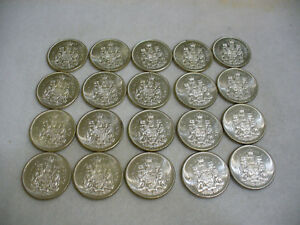 Click now to see the BUY IT NOW Price! LOT OF 20 1964  CANADA HALF DOLLAR  SILVER COINS  50 CENT PIECES    HIGH GRADES