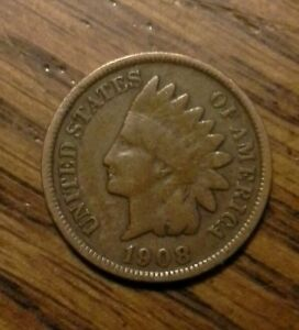 1908 INDIAN CENT US PENNY