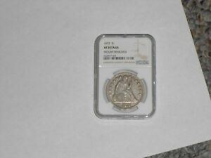 1872 US SEATED LIBERTY SILVER DOLLAR NGC XF EXTRA FINE