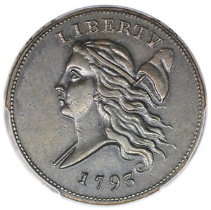 Click now to see the BUY IT NOW Price! 1793 LIBERTY CAP HALF CENT C 3 R.3 PCGS AU53 CHOICE