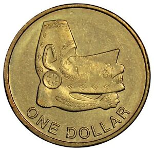 SOLOMON ISLANDS 1 DOLLAR COIN 2012 SEA SPIRIT STATUE