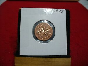 1975  CANADA  1  CENT COIN  PENNY  PROOF LIKE  HIGH  GRADE  SEALED  SEE PHOTOS