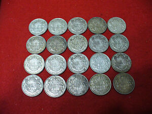 Click now to see the BUY IT NOW Price! LOT OF 20 1947  CANADA HALF DOLLAR SILVER COINS 50 CENT PIECES   NICE GRADES