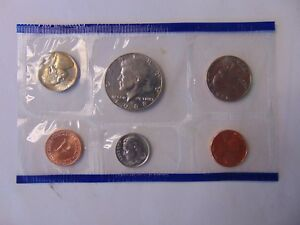 1988 US MINT SET P ORIGINAL PLASTIC  6 COINS KENNEDY WASHINGTON REPLACEMENT SALE