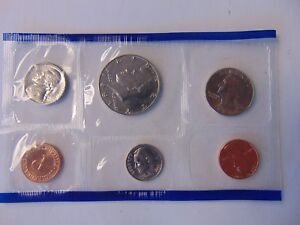 1987 US MINT SET P ORIGINAL PLASTIC  6 COINS KENNEDY WASHINGTON REPLACEMENT SALE