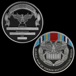 GLOBAL WAR ON TERROR EXPEDITIONARY MEDAL CHALLENGE COIN COLLECTION LOTS