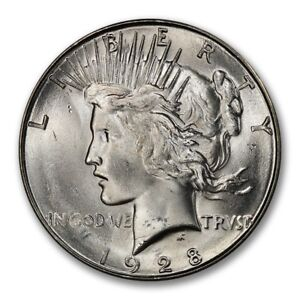 Click now to see the BUY IT NOW Price! 1928 S $1 PEACE DOLLAR PCGS MS65   CAC