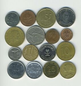 LOT OF 16 WORLD COINS   16 DIFFERENT COUNTRIES   GREAT STARTER   LOT 229