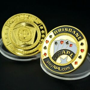 BRISBANE PLAY CHIP 1OZ GOLD PLATED COMMEMORATIVE COINS COLLECTION LOTS