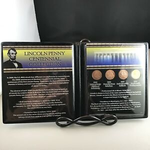 2009 FIRST COMMEMORATIVE MINT LINCOLN PENNY CENTENNIAL COLLECTION 4 COINS