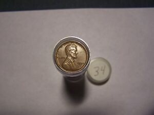 ROLL OF 1934 LINCOLN WHEATS CIRCULATED