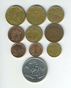 SOUTH AFRICA   LOT OF 10 DIFFERENT COINS   GREAT STARTER   LOT SA 38
