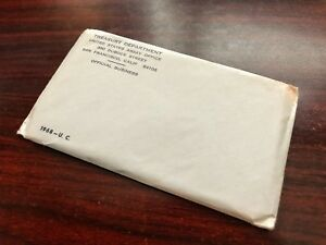 1968 U.C. TREASURY DEPT. UNITED STATES MINT PROOF SET ORIGINAL SEALED ENVELOPE